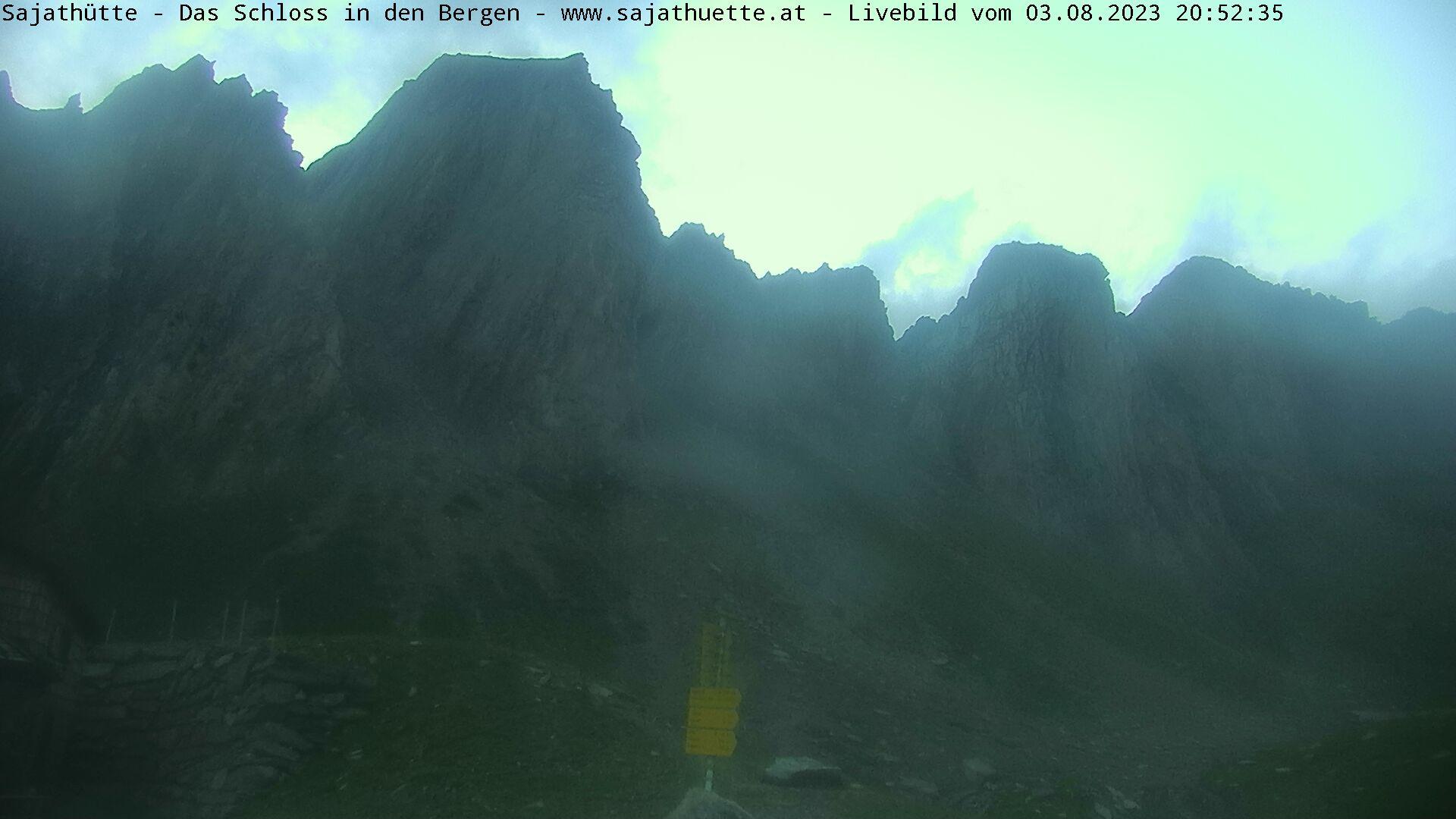 Webcam Blick Richtung Rote Säule | Webcam Sajat-Hütte 2.600 m