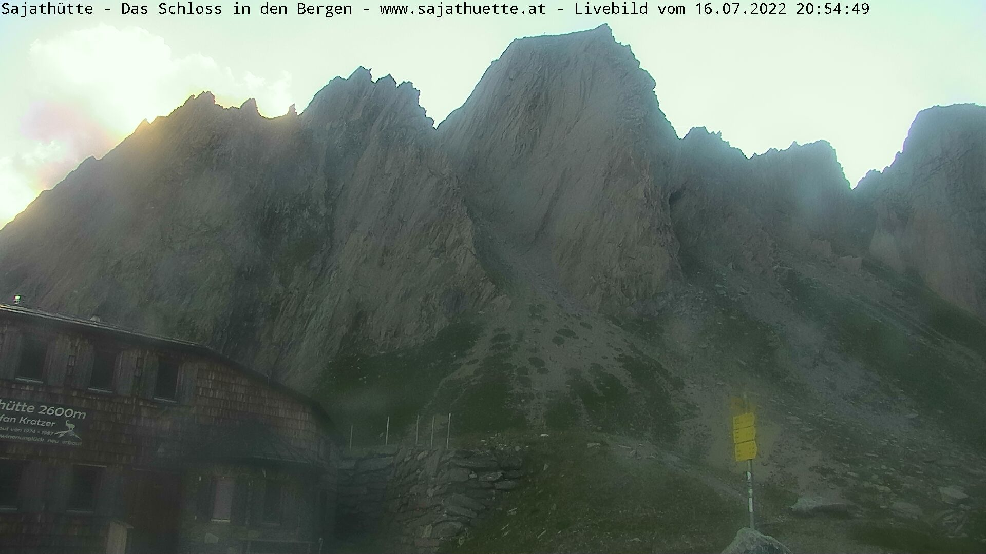Webcam Blick Richtung Rote Säule   Webcam Sajat-Hütte 2.600 m