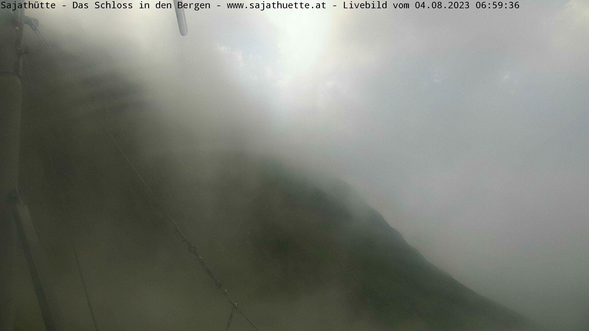 Webcam Blick Richtung Sajatkopf (Osten) - Neue Sajat-Hütte 2.600 m