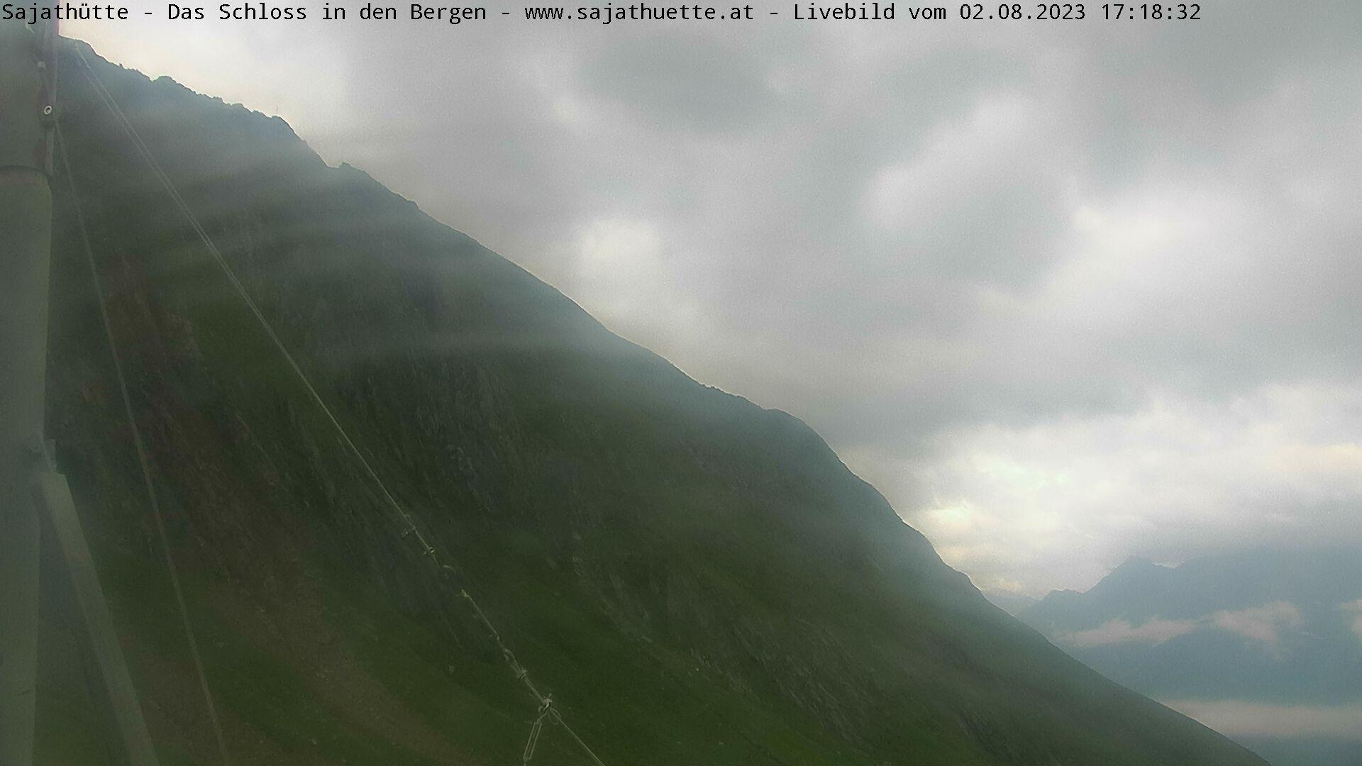 Webcam Blick Richtung Sajatkopf (Osten) | Webcam Sajat-Hütte 2.600 m