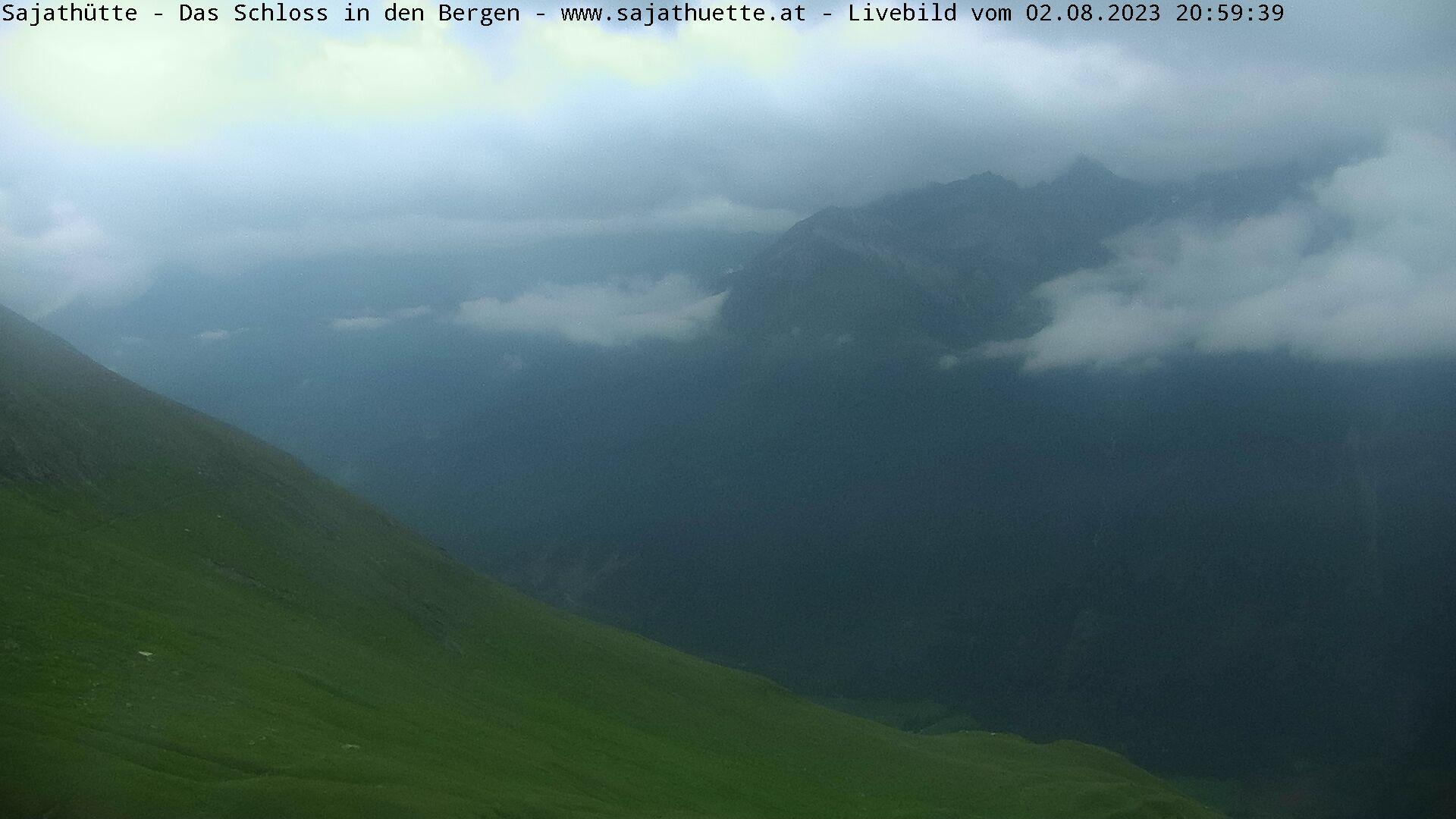 Webcam Blick Richtung Sajatkopf (Osten)   Webcam Sajat-Hütte 2.600 m