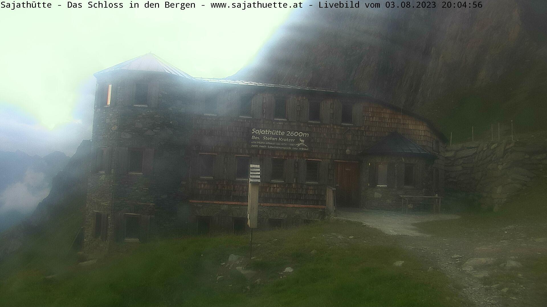 Webcam Webcam Sajathütte - Aktuelles Live-Bild aus 2.600m Seehöhe © www.sajathuette.at