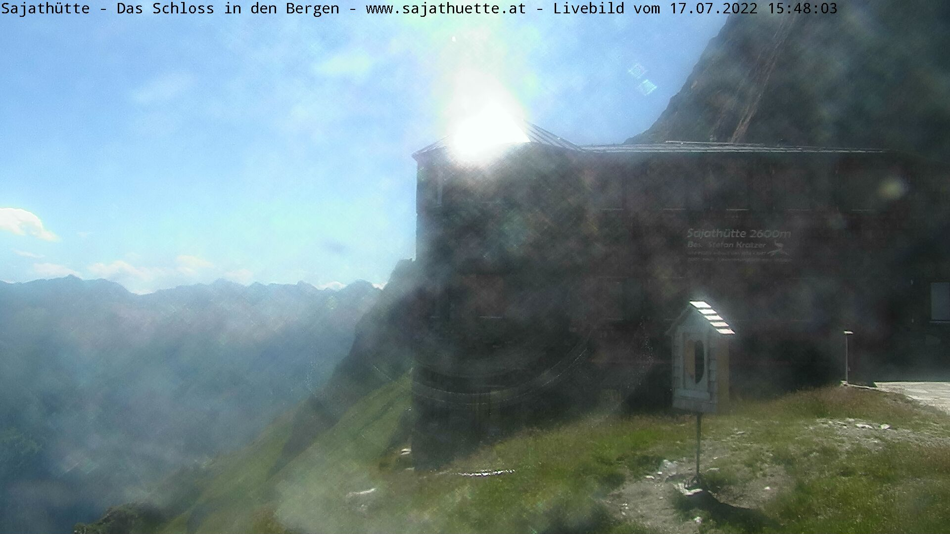 Webcam Webcam Sajathütte - Live-Bild aus 2.600m Seehöhe | © www.sajathuette.at